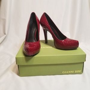 Gianni Binni Red High Heels size 7.5